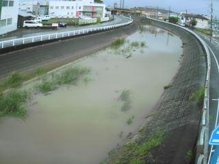下弓削川 下道添橋のライブカメラ|福岡県久留米市