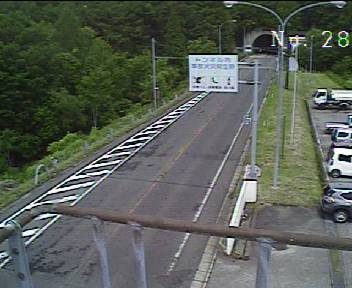 国道115号 土湯トンネル猪苗代側のライブカメラ 福島県猪苗代町