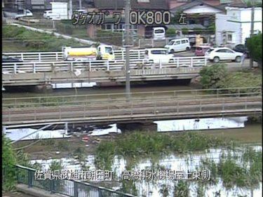 武雄川 高橋排水機場屋上東側のライブカメラ|佐賀県武雄市