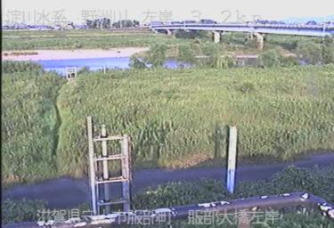 野洲川 服部大橋左岸のライブカメラ|滋賀県守山市