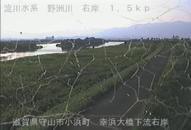 野洲川 幸浜大橋下流右岸のライブカメラ|滋賀県守山市