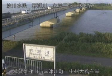 野洲川 中州大橋左岸のライブカメラ 滋賀県守山市