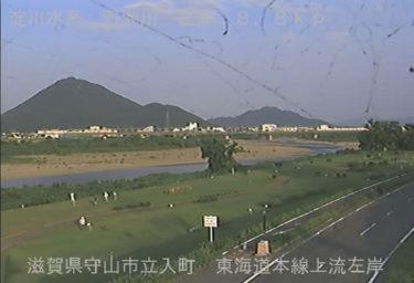 野洲川 東海道本線上流左岸のライブカメラ|滋賀県守山市