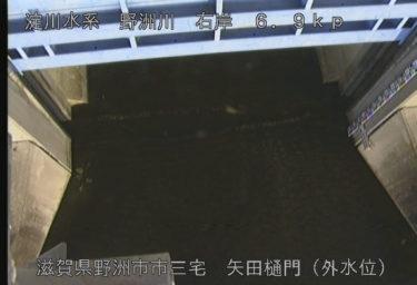 野洲川 矢田樋門外水位のライブカメラ|滋賀県野洲市