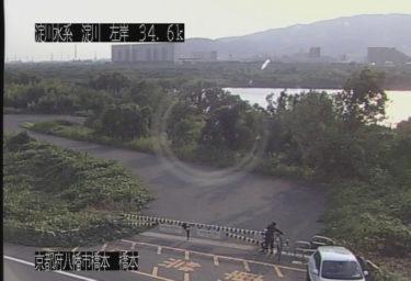 淀川 三川合流付近のライブカメラ|大阪府枚方市