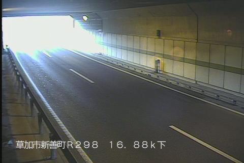 国道298号 新善町地下道 下りのライブカメラ|埼玉県草加市