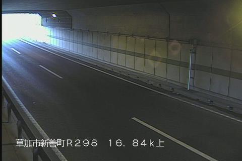 国道298号 新善町地下道 上りのライブカメラ|埼玉県草加市