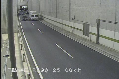 国道298号 谷口地下道 上りのライブカメラ 埼玉県八潮市