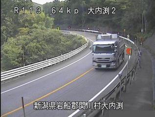 国道113号 関川村大内渕2のライブカメラ|新潟県関川村