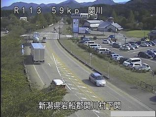 国道113号 関川村下関のライブカメラ|新潟県関川村