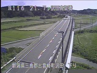 国道116号 出雲崎町沢田のライブカメラ|新潟県出雲崎町