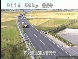 国道116号 新潟市西蒲区善光寺のライブカメラ|新潟県新潟市