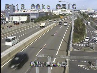 国道116号 新潟市西区亀貝インターチェンジのライブカメラ|新潟県新潟市
