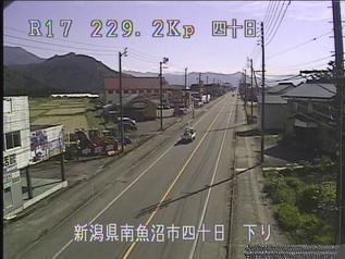 国道17号 南魚沼市四十日のライブカメラ|新潟県南魚沼市