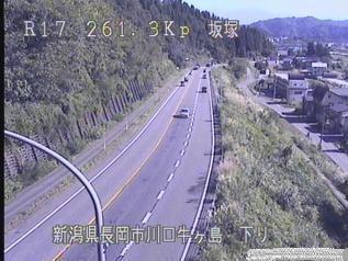 国道17号 長岡市川口牛ヶ島のライブカメラ|新潟県長岡市