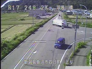 国道17号 魚沼市羽根川橋のライブカメラ|新潟県魚沼市
