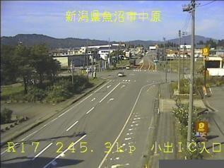 国道17号 魚沼市小出インターチェンジ入口のライブカメラ|新潟県魚沼市