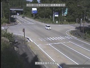 国道18号 妙高市妙高高原インターチェンジのライブカメラ|新潟県妙高市