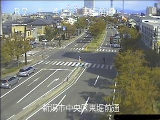 国道7号 新潟市中央区東堀前通のライブカメラ|新潟県新潟市