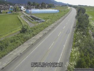 国道7号 胎内市近江新のライブカメラ 新潟県胎内市