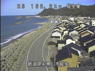 国道8号 糸魚川市能生のライブカメラ|新潟県糸魚川市