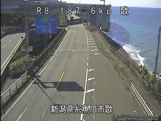 国道8号 糸魚川市歌のライブカメラ|新潟県糸魚川市