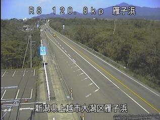 国道8号 上越市雁子浜のライブカメラ|新潟県上越市
