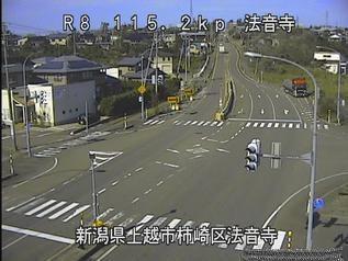 国道8号 上越市法音寺のライブカメラ|新潟県上越市