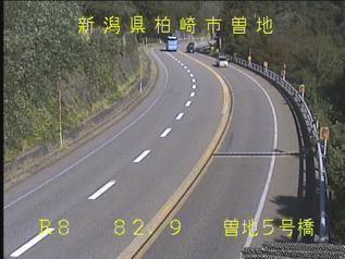 国道8号 柏崎市曽地5号橋のライブカメラ|新潟県柏崎市