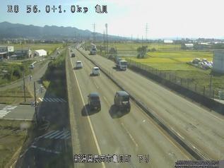 国道8号 長岡市亀貝町のライブカメラ|新潟県長岡市