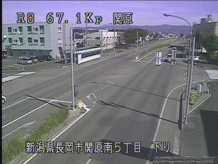 国道8号 長岡市関原町のライブカメラ 新潟県長岡市