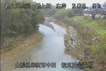 最上川 堀立川合流点のライブカメラ|山形県米沢市