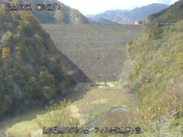 寒河江川 フィル提体左岸下流のライブカメラ|山形県西川町