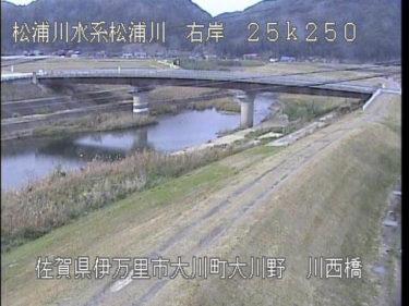 松浦川 川西橋のライブカメラ 佐賀県伊万里市