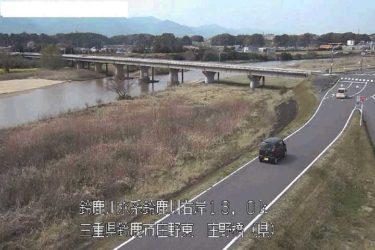 鈴鹿川 亀山大橋(県)のライブカメラ|三重県亀山市