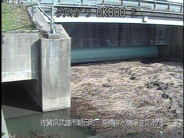 武雄川 高橋排水機場甘久水門のライブカメラ|佐賀県武雄市