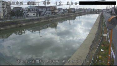 綾瀬川 八潮市柳之宮のライブカメラ|埼玉県八潮市