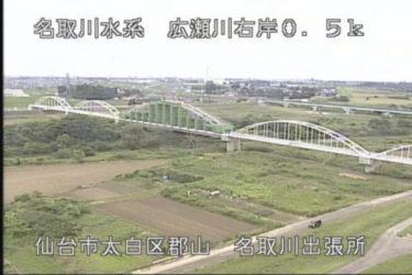 広瀬川 名取川出張所のライブカメラ 宮城県仙台市
