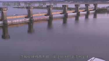 常陸川 水門上流のライブカメラ 茨城県神栖市