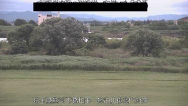 利根川 休泊川排水門対岸のライブカメラ|埼玉県熊谷市