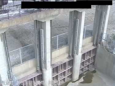 利根川 谷田川排水機場 川表側のライブカメラ|群馬県板倉町