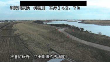 利根川 谷田川排水機場屋上のライブカメラ|群馬県板倉町