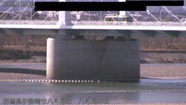 利根川 八斗島水位のライブカメラ|群馬県伊勢崎市