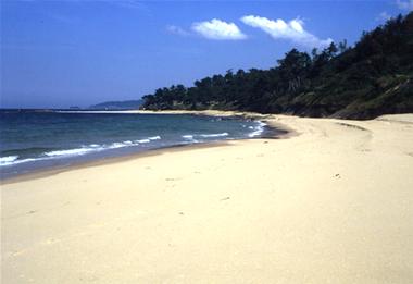 琴引浜の海水浴場